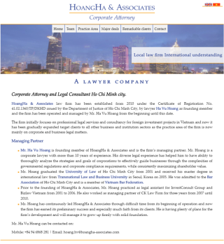Professional website for a lawyer company